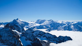 Mt. Titlis in Switzerland. Alps, view from Mt. Titlis in Switzerland Stock Images