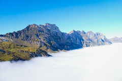Mt. Titlis in Switzerland. Royalty Free Stock Photo