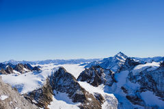 Mt. Titlis in Switzerland. Alps, view from Mt. Titlis in Switzerland Royalty Free Stock Photo