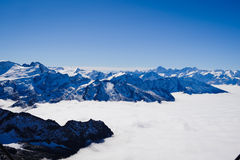 Mt. Titlis in Switzerland. Royalty Free Stock Photos