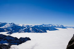 Mt. Titlis in Switzerland. Alps, view from Mt. Titlis in Switzerland Stock Photo