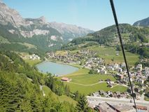 Mt. Titlis, Switzerland From the viewpoint 360 degree panoramic, the popular tourist attractions of Switzerland. Mt. Titlis Switzerland From the viewpoint 360 royalty free stock photos
