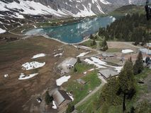 Mt. Titlis, Switzerland From the viewpoint 360 degree panoramic, the popular tourist attractions of Switzerland. Mt. Titlis Switzerland From the viewpoint 360 stock photography
