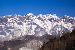 Mt. Togakushi en invierno Foto de archivo