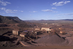 Mt Tom Price Iron Ore mine. In the far north of Western Australia Royalty Free Stock Photography