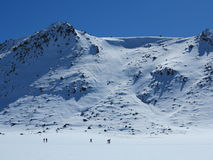 Mt tongariro登山人 图库摄影