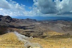 Mt Tongariro, an active volcano in New Zealand stock images