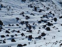 Mt tongariro climbers royalty free stock photo