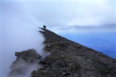 MT van Mungibedduaka Etna is de hoogste Europese vulkaan stock afbeelding
