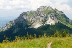 Mt. Velky Rozsutec, Mala Fatra, Slovakia. View of Mt. Velky Rozsutec from Stoh, Mala Fatra, Western Carpathians, Slovakia Stock Photo