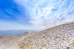 Mt Ventoux. Aerial view from the Mount Ventoux in France Stock Photos