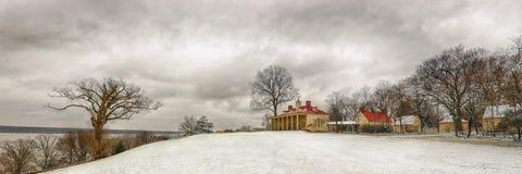 Mt Vernon dans la neige Image libre de droits