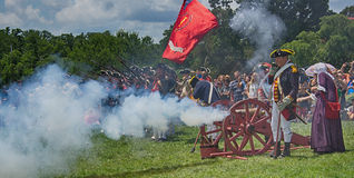 Mt Vernon 4th of July Celebration with Canon Royalty Free Stock Photo