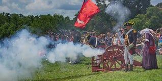 Mt Vernon 4. von Juli-Feier mit Canon Lizenzfreies Stockfoto