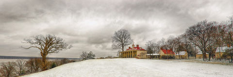 Mt Vernon w śniegu Obraz Royalty Free