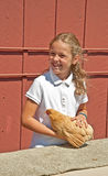 MT VERNON, WA - AUGUST 13 - 4H Child Chicken Judging at County F Royalty Free Stock Image