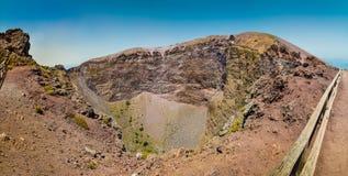 Mt Vesuvius crater panorama, Naples, Campania, Italy Stock Image