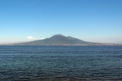 Mt. Vesuvius. A view of Mt. Vesuvius as seen from Sorrento Italy stock photos