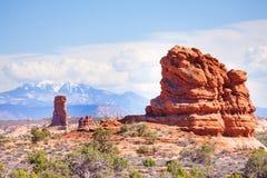 Mt Waas et voûtes garent la vue de plateau aux Etats-Unis Photos stock