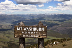 Mt. Washburn, Yellowstone Park Royalty Free Stock Photos