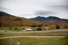 Mt Washington en un día nublado de la caída Imagen de archivo libre de regalías