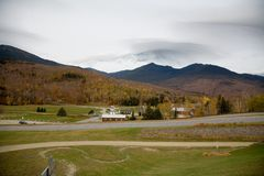 Mt Washington in a Fall Cloudy Day. In Rural New England Royalty Free Stock Image