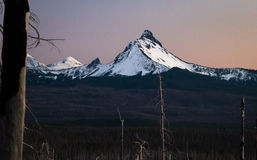 Mt. Washington and the Three Sisters at Dusk, central Oregon, USA Royalty Free Stock Photo