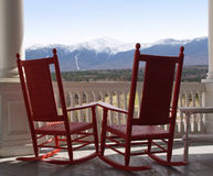 Mt. Washington View. Mt. Washington, New Hampshire from the porch of a resort hotel Royalty Free Stock Images