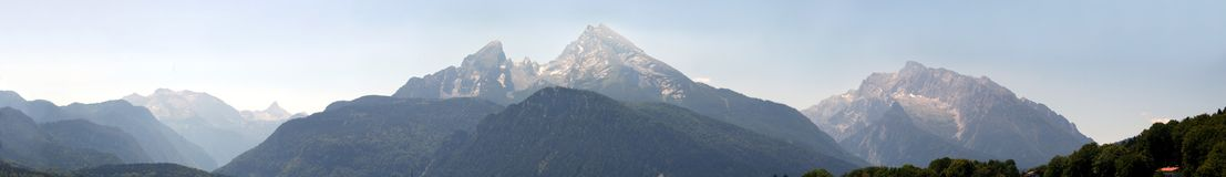 Mt. Watzmann, panoramic picture Stock Photo