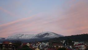 Mt Wellington Tasmania Time Lapse stock footage