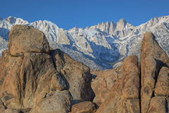 Mt. Whitney and Alabama Hills Stock Photography