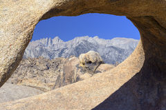 Mt Whitney through Arch Rock Stock Images