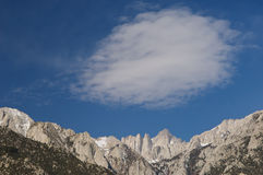 Mt. Whitney and Cloud Royalty Free Stock Photo