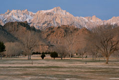 Mt. Whitney at Dawn Royalty Free Stock Photography