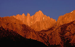 Mt.Whitney at dawn Royalty Free Stock Photography