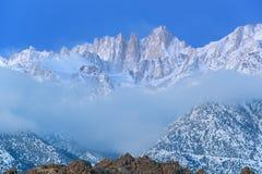Mt. Whitney, horizontal de l'hiver Image stock