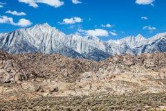 Mt Whitney i Kalifornien Fotografering för Bildbyråer