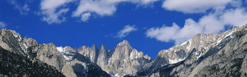 Mt. Whitney and Sierra Mountains, CA Royalty Free Stock Photo
