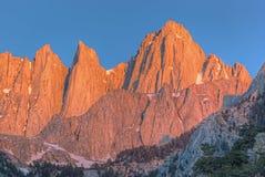 Mt. Whitney at Sunrise Stock Image