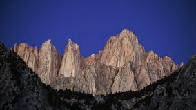 Mt Whitney before sunrise Royalty Free Stock Photo