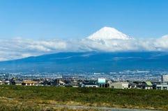 mt widok Washington Fuji i miasteczko Zdjęcia Royalty Free