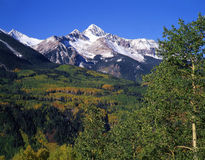 Mt. Wilson (H). Mt Wilson in the Uncompahgre National Forest, located in southwest Colorado, photographed during the autumn season stock photo