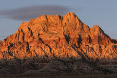 Mt Wilson Nevada Dawn Light Arkivfoton