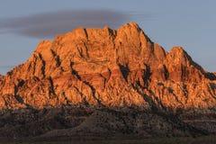 Mt Wilson Nevada Dawn Light Stock Photos
