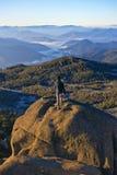 Mt wschodu słońca Bawoli Halny wycieczkowicz Obrazy Royalty Free