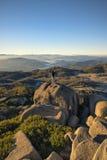 Mt wschodu słońca Bawoli wycieczkowicz Fotografia Royalty Free