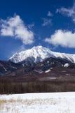 Mt. Yatsugatake在冬天 免版税库存图片