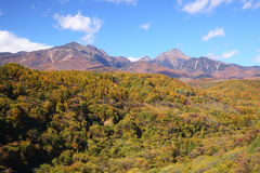 Mt. Yatsugatake in autumn Royalty Free Stock Image