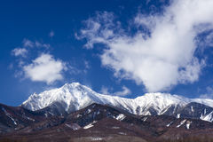 Mt. Yatsugatake in winter Royalty Free Stock Image
