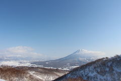 Mt Yoita niseko日本晴天 库存照片